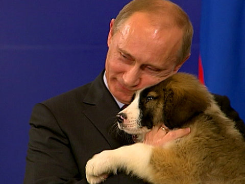 Russian Video: Vladimir Putin and a puppy!