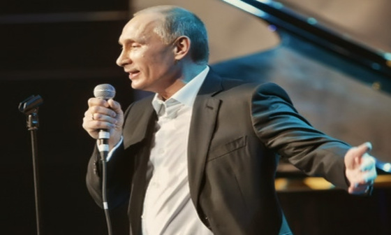 Russian video: Vladimir Putin can sing!