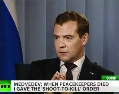 Russia Today: Russian President Medvedev talk about Georgian aggression in august 2008 (Video)