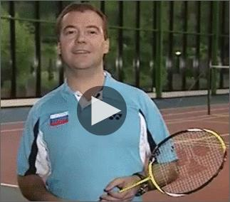 Russian Video: Lets Play Badminton…