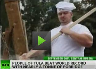 Russian Video: Porridge Feast in Tula, Russia – a World Record…