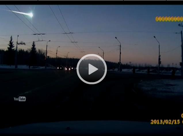 The video about Meteorite crash in Siberia, Russia (February, 15th 2013)
